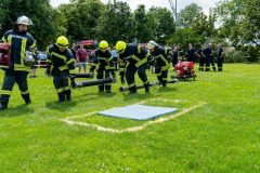 Leistungsnachweis der Einsatzabteilungen beim möglichst schnellen, fehlerfreien Herrichten einer Saugleitung.