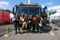 Die Teilnehmer der Verdener Trainingsgruppe: Torben Voigt (Ortsfeuerwehr Verden), Henrik Schröder (Feuerwehr Bremen), Mirko Bremer (Ortsfeuerwehr Verden) und Markus Siebels (Ortsfeuerwehr Oyten).