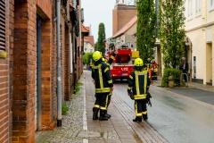 In der Verdener Innenstadt kam es zu Blitzeinschlägen in zwei Gebäude.