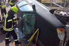 Sonderdienst Verkehrsunfallrettung in Zusammenarbeit mit dem DRK.