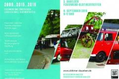 Der Flyer zum diesjährigen Dauelser Feuerwehr-Oldtimertreffen.