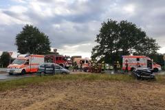 Drei PKW waren in den Unfall verwickelt.