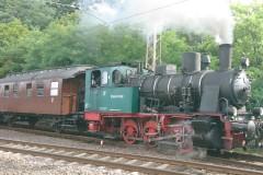 Der historische Zug im Verdener Bahnhof.