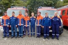 Die Jugendlichen aus der Stadt Verden nach der erfolgreichen Abnahme und Verleihung der Leistungsspange.