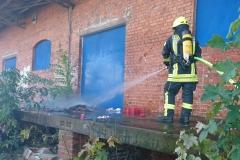 Brandbekämpfung in der Husarenstraße.
