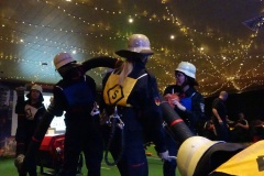 Die Frauenmannschaft in Aktion.