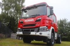 Das Scania-Fahrgestell des neuen LF 10 für die Dauelser Ortsfeuerwehr.