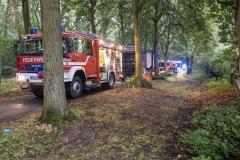 Unterstützung durch den Tankcontainer bei einem Brandeinsatz am Verdener Stadtwald.