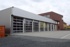 29.02.2020 - Blick auf die Fahrzeughalle des 1. Bauabschnittes.