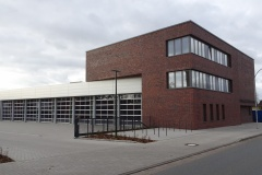 29.02.2020 - Die Ostseite des Neubaus.