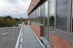 29.02.2020 - Auf dem Dach des Neubaus.