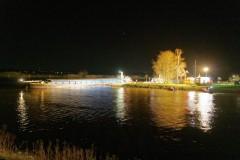 Schiffshavarie auf der Weser bei Dörverden.