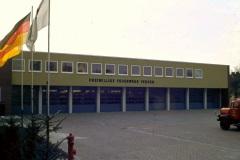 Das Feuerwehrhaus in den 70\'er Jahren als Neubau.