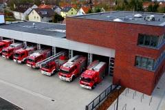 Im März konnte der erste Teilabschnitt des neuen Feuerwehrhauses bezogen werden.