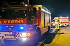 Rettungsdienst und Feuerwehr an der Einsatzstelle.