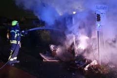 Brand eines Containers in der Husarenstraße.