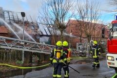 Gebäudebrand in Dörverden-Westen.