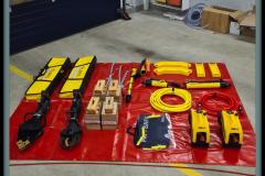 Die neue Ausrüstung für technische Hilfeleistung bei Verkehrsunfällen der Ortsfeuerwehr Dauelsen.