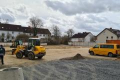 12. März 2021: Die ersten Baufahrzeuge sind angerückt, der Bau des 2. Abschnittes kann beginnen.