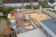 Fortschritt des Baus am 11. April 2021.