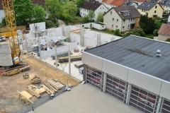 Fortschritt des Baus am 14. Mai 2021.