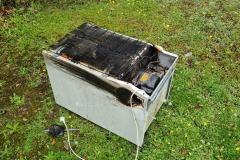 An einem Kühlschrank kam es zum Brand