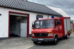 Das Verdener TSF-W am Feuerwehrhaus Bongard.