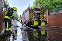 Zum wiederholtem Male in diesem Jahr musste die Feuerwehr den Ysotunnel abpumpen.