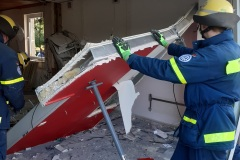 An dem Gebäude sind massive Schäden entstanden.