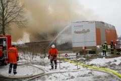 Brand des Neubaus der Sporthalle Walle, Januar 2010