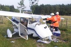 Absturz eines Flugzeugs während des Dorfgemeinschaftsfestes 2005