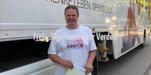Sven Ludwig wurde per Glücklos ausgewählt und erhielt als Dankeschön für seine Spende einen Gutschein.